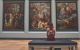 Woman watching art